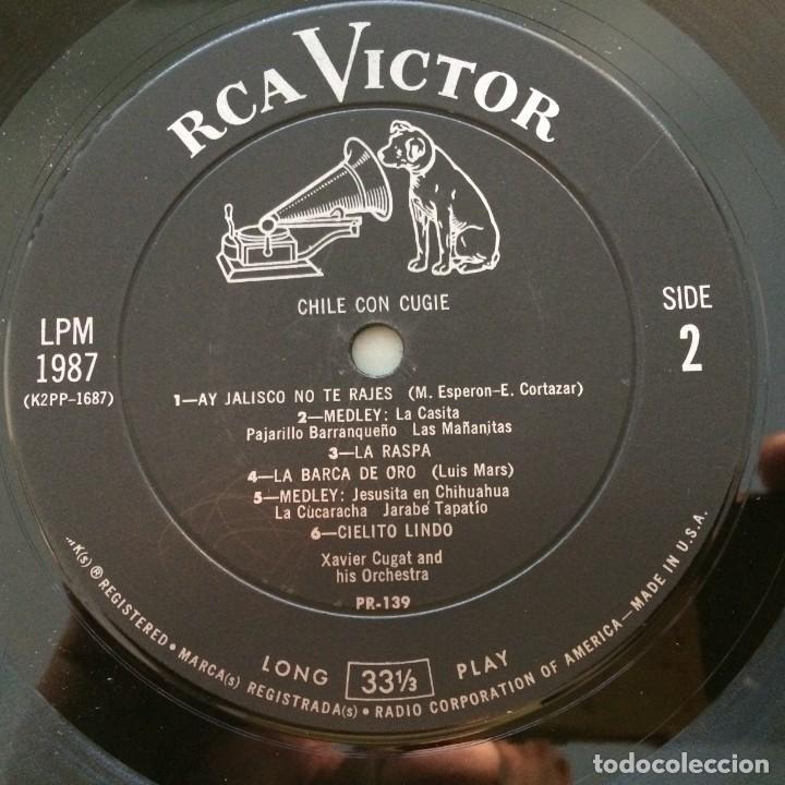 Discos de vinilo: Xavier Cugat And His Orchestra – Chile Con Cugie Canada 1950 RCA Victor - Foto 4 - 217642642