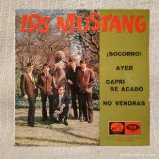 Discos de vinilo: LOS MUSTANG - ¡SOCORRO! / AYER / CAPRI SE ACABÓ / NO VENDRÁS - EP 7'' (LA VOZ DE SU AMO 1965) VG+. Lote 217654917