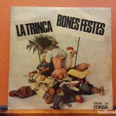 Disques de vinyle: LA TRINCA. BONES FESTES. EDIGSA. Lote 217671156