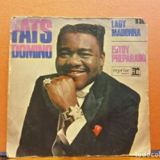 Disques de vinyle: SINGLE. FATS DOMINO. LADY MADONNA. ESTOY PREPARADO. REPRISE. Lote 217672347