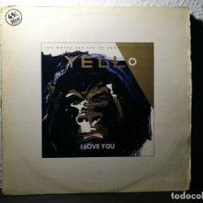 Discos de vinilo: YELLO - I LOVE YOU VINILO 12 PULGADAS MAXI-SINGLE 45 RPM - VICTORIA STIFF RECORDS 1983 SPAIN -PROMO-. Lote 217699855