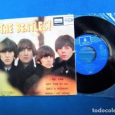 Discos de vinilo: BEATLES SINGLE EP RE EDICION CAMBIO REFERENCIA EMI ODEON ESPAÑA EXCELENTE ESTADO DE CONSERVACION. Lote 217703045