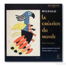 Discos de vinilo: DARIUS MILHAUD - LA CREATION DU MONDE - DIRIGIDA POR CHARLES MUNCH - 1962. Lote 217703277