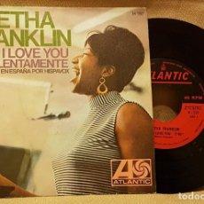 Discos de vinilo: ARETHA FRANKLIN - BABY BI LOVE YOU. Lote 217718288