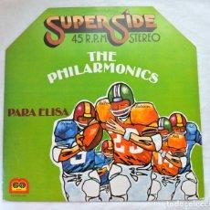 Discos de vinilo: THE PHILARMONICS , PARA ELISA, DISCO VINILO LP, SUPER SIDE 45 RPM STEREO, AUVI, 1978. Lote 217718735
