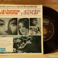 Discos de vinilo: BANDA SONORA DE LA PELICULA - UN HOMME ET UNE FEMME. Lote 217731816