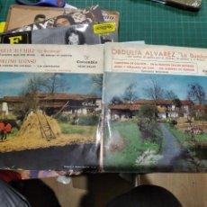 Discos de vinilo: LOTE 2 EP OBDULIA ÁLVAREZ LA BUSDONGA LOS CORALES QUE ME DISTE CARRETERA DE COLLOTO BUEN ESTADO. Lote 217732238