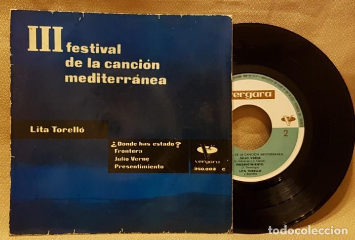 FESTIVAL DE LA CANCION MEDITERRÁNEA - LITA TORELLÓ - ¿ DONDE HAS ESTADO ? (Música - Discos de Vinilo - EPs - Festival de Eurovisión)