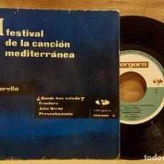 Discos de vinilo: FESTIVAL DE LA CANCION MEDITERRÁNEA - LITA TORELLÓ - ¿ DONDE HAS ESTADO ?. Lote 217734727