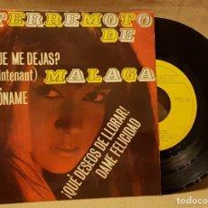 Discos de vinilo: TERREMOTO DE MALAGA - ¿PORQUE ME DEJAS ?. Lote 217738453