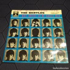 Discos de vinilo: THE BEATLES - QUE NOCHE LA DE AQUEL DÍA - EP - ESPAÑA 1964 - DOBLE NUMERACIÓN - EDICIÓN DIFÍCIL.. Lote 217741302