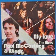 Discos de vinilo: SINGLE / PAUL MCCARTNEY & WINGS – MY LOVE, APPLE RECORDS – 1 J 006-05.301, 1973. Lote 217753530