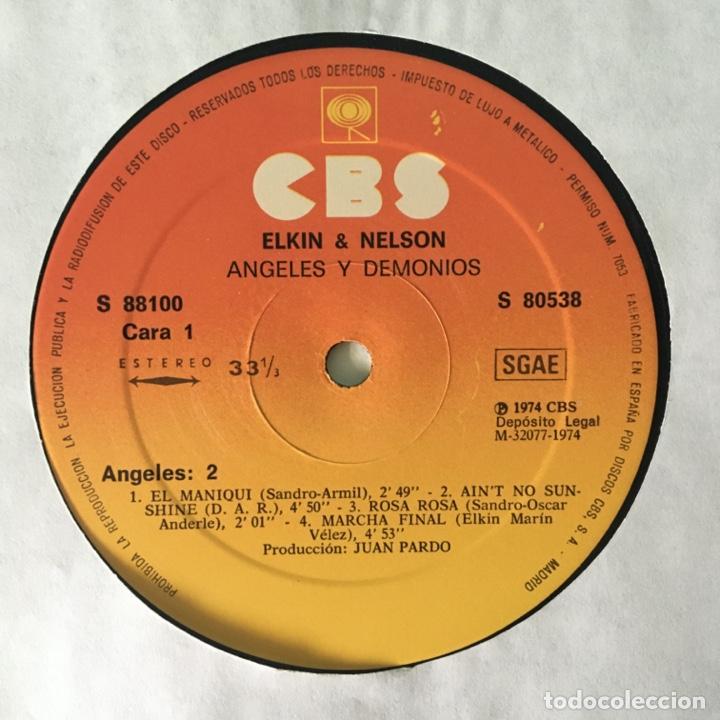 Discos de vinilo: Elkin & Nelson – Angeles Y Demonios, 2 LPs Spain 1974 CBS - Foto 3 - 217755841