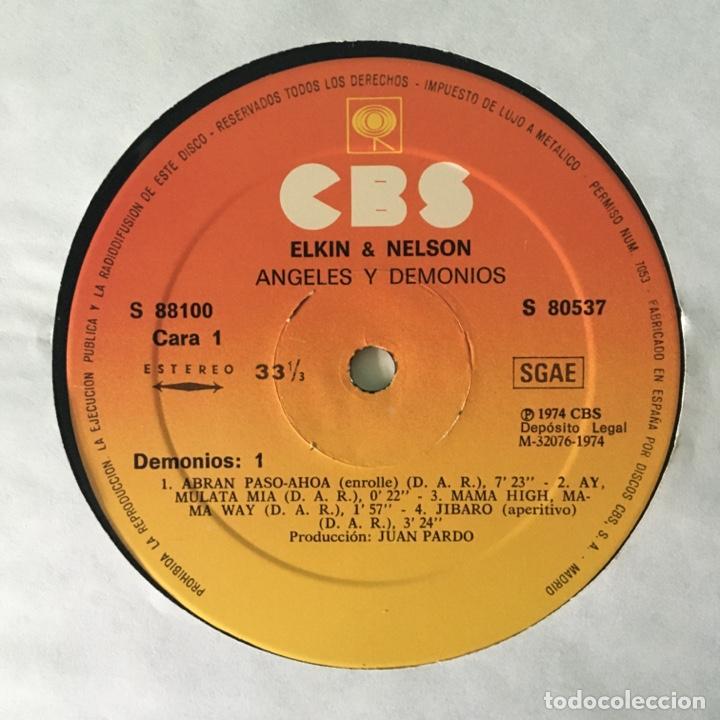 Discos de vinilo: Elkin & Nelson – Angeles Y Demonios, 2 LPs Spain 1974 CBS - Foto 5 - 217755841