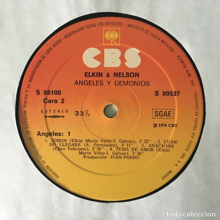 Discos de vinilo: Elkin & Nelson – Angeles Y Demonios, 2 LPs Spain 1974 CBS - Foto 6 - 217755841