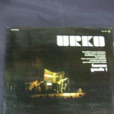 Discos de vinilo: URKO - HEMEN GAUDE ! - EN DIRECTO LP ZAFIRO 1977 . ENCARTE CON LAS LETRAS. FOLK VASCO LP. Lote 217762216