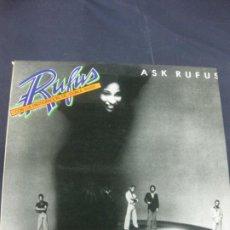 Discos de vinilo: RUFUS CON LA PARTICIPACION DE CHAKA KHAN. ASK RUFUS.LP ABC RECORDS 1977.. Lote 217764563