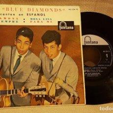 Discos de vinilo: LOS BLUE DIAMONDS EN ESPAÑOL - RAMONA - MONA LISA SIEMPRE - PARA MI. Lote 217764611