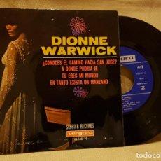 Discos de vinilo: DIONNE WARWICK - ¿ COMOCES EL CAMINO HACIA SAN JOSE? - A DONDE PODRIA IR - TU ERES EL MUNDO. Lote 217765045