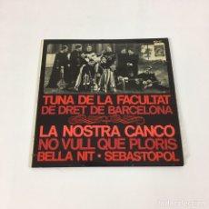 Discos de vinilo: EP - TUNA DE LA FACULTAT DE DRET DE BARCELONA - LA NOSTRA CANÇÓ - (CONCENTRIC, 6021-UC). Lote 217766686