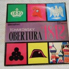 Discos de vinilo: P. I. TCHAIKOWSKY. OBERTURA 1812. ORQUESTA SINFONICA DE PRAGA. DISCOPHON, 1962.. Lote 217767757