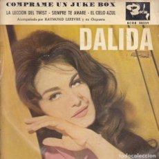Disques de vinyle: EP DALIDA EDITADO EN ESPAÑA COMPRAME UN JUKE BOX + 3. Lote 217774882