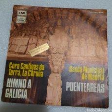 Discos de vinilo: CORO CANTIGAS DA TERRA, LA CORUÑA - HIMNO A GALICIA. Lote 217774891