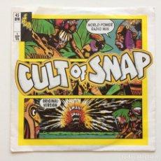 Discos de vinilo: SNAP! – CULT OF SNAP (WORLD POWER RADIO MIX) / BLASÉ BLASÉ GERMANY 1990. Lote 217780645
