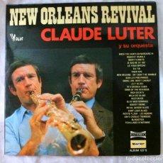 Discos de vinilo: CLAUDE LUTER Y SU ORQUESTA, NEW ORLEANS REVIVAL, DOBLE LP, DISCO VINILO LP, MARFER, 1977. Lote 217801575