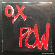 Discos de vinilo: O.X. POW ESPERANDO EN LA CALLE DOS ROMBOS 1983 SINGLE ROJO PROMO, NO INSERT NO POSTER, PUNK. Lote 217803461