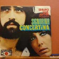 Disques de vinyle: SINGLE. SHUKI AND AVIVA EN ESPAÑOL. SIGNORINA CORCERTINA. Lote 217812236