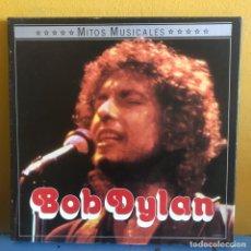 Discos de vinilo: BOB DYLAN MITOS MUSICALES BOX SET Y LIBRO. Lote 217816005