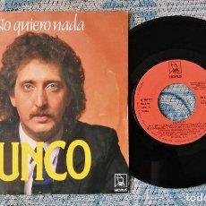 Discos de vinilo: SINGLE JUNCO - NO QUIERO NADA. Lote 217829435