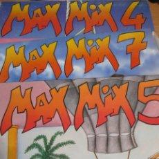 Discos de vinilo: LOTE 3 DOBLE DISCOS VINILO MAX MIX 4.5,7 TONY PERET Y JOSE Mª CASTELLS. Lote 217834365
