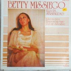 Discos de vinilo: LP BETTY MISIEGO - ELLA ES SENSIBILIDAD. Lote 217838256