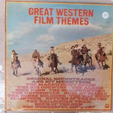 Discos de vinilo: LP GREATS WESTERN FILM THEMES. Lote 217841281