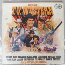 Discos de vinilo: LP GREAT TV WESTERN THEMES. Lote 217841381