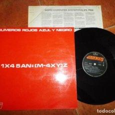Discos de vinil: AZUL Y NEGRO NUMEROS ROJOS MAXI SINGLE VINILO DEL AÑO 1985 ENCARTE 3 TEMAS CARLOS GARCIA VASO RARO. Lote 217842601