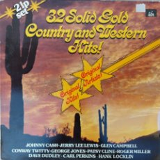 Discos de vinilo: DOBLE LP - 32 SOLID GOLD COUNTRY&WESTER HITS. Lote 217847542