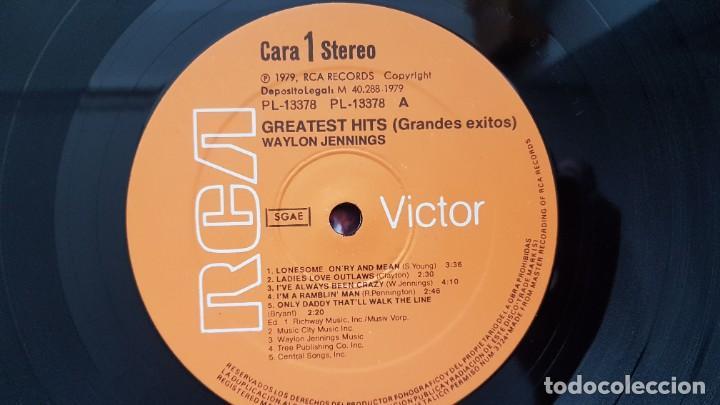 Discos de vinilo: Waylon - Greatest hits. Editado por RCA. año 1.979. PERFECTO ESTADO DEL DISCO - Foto 5 - 217859068