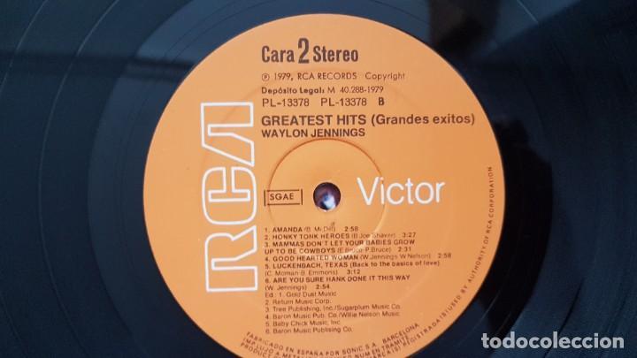 Discos de vinilo: Waylon - Greatest hits. Editado por RCA. año 1.979. PERFECTO ESTADO DEL DISCO - Foto 6 - 217859068
