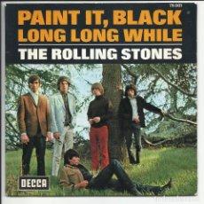 Discos de vinil: THE ROLLING STONES – PAINT IT, BLACK / LONG LONG WHILE SELLO: DISQUES DECCA ?– 79.001 FRANCIA 1966. Lote 217877263