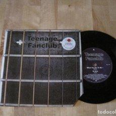 Discos de vinilo: EP TEENAGE FANCLUB WHAT YOU DO TO ME UK 1992 + INSERT. Lote 217885558
