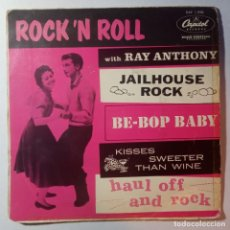 Discos de vinilo: RAY ANTHONY - ROCK N ROLL WITH RAY ANTHONY - EP - CAPITOL. Lote 217885663