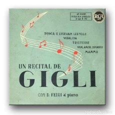 Discos de vinilo: BENIAMINO GIGLI - UN RECITAL DE GIGLI. Lote 217891630