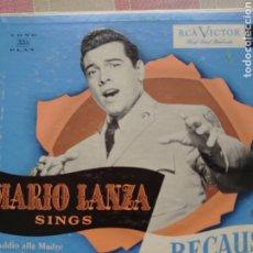Discos de vinilo: MARIO LANZA 25 CTMS SELLO RCA VÍCTOR EDITADO EN USA.... Lote 217892767