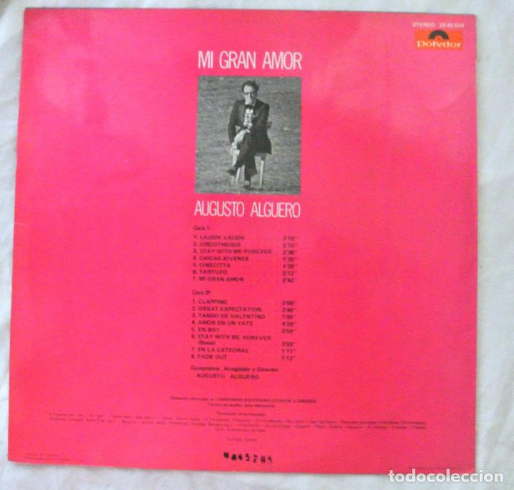 Discos de vinilo: AUGUSTO ALGUERO , MI GRAN AMOR , DISCO VINILO LP, POLYDOR, 1971 - Foto 2 - 217895787