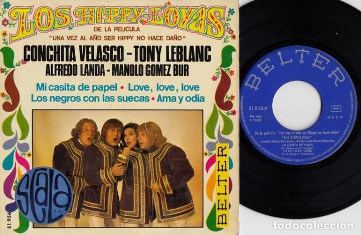 LOS HIPPY LOYAS - LOS NEGROS CON LAS SUECAS - EP DE VINILO # (Música - Discos de Vinilo - EPs - Grupos Españoles 50 y 60)