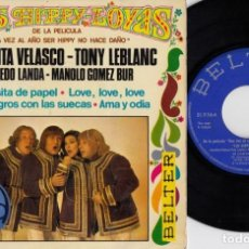 Discos de vinilo: LOS HIPPY LOYAS - LOS NEGROS CON LAS SUECAS - EP DE VINILO #. Lote 217908063
