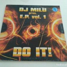 Discos de vinilo: DJ MILU - E.P. VOL. 1 - DO IT!. Lote 217911013
